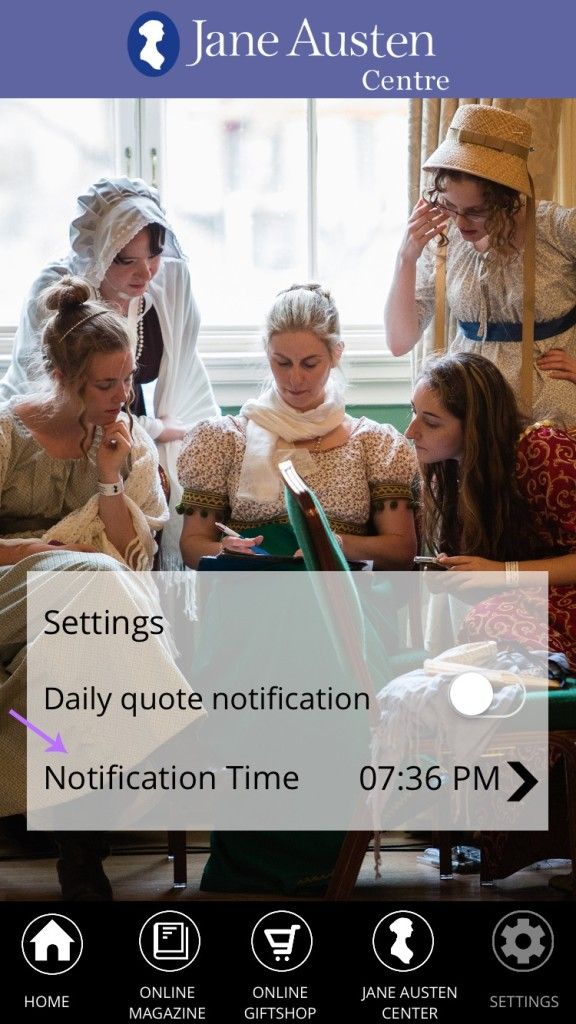 Jane Austen app