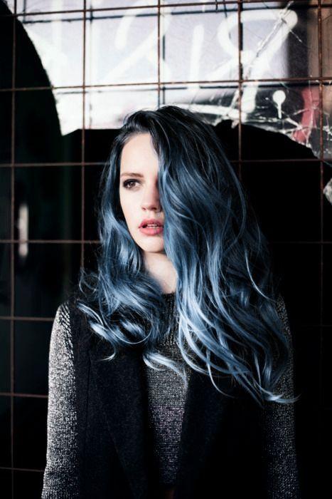 grey blue hair