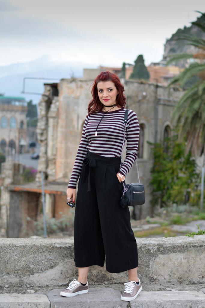 pantaloni culotte look