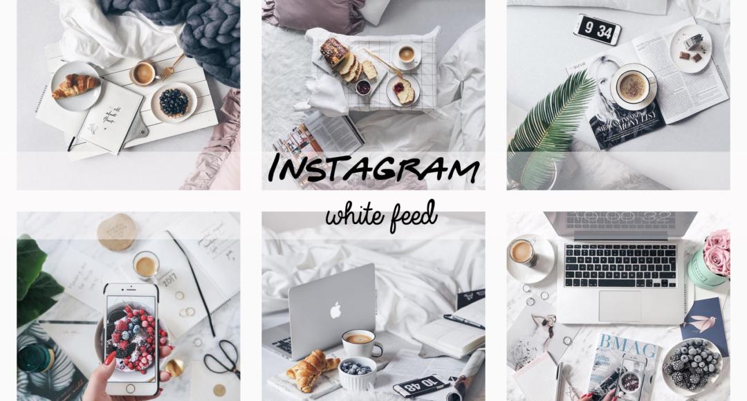 Come editare le foto e renderle bianche e luminose- instagram feed white
